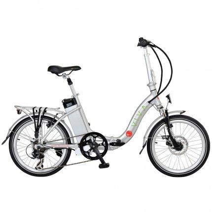 AsVIVA Elektrofahrrad & Klappfahrrad Pedelec B12 E-Bike silber