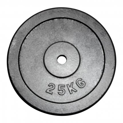 Gusseiserne Hantelscheibe HS2_3_25 Gewicht 25 kg & 30 mm Lochung von AsVIVA online kaufen