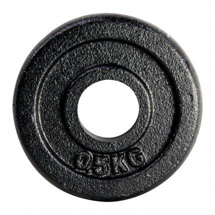 Hantelscheibe 0,5 kg Gusseisen 30 mm AsVIVA HS2_3_0.5