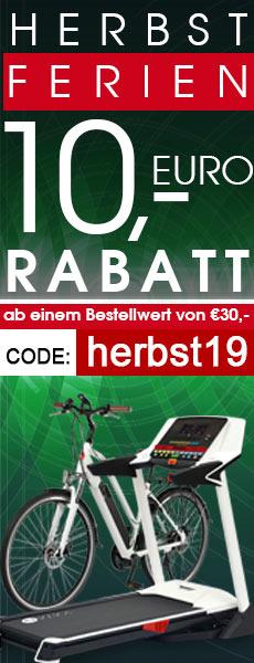 10 € Rabatt-Gutschein für Fitnessgeräte, E-Bikes, Gartenmöbel & Keramikgrills im AsVIVA Online Shop.