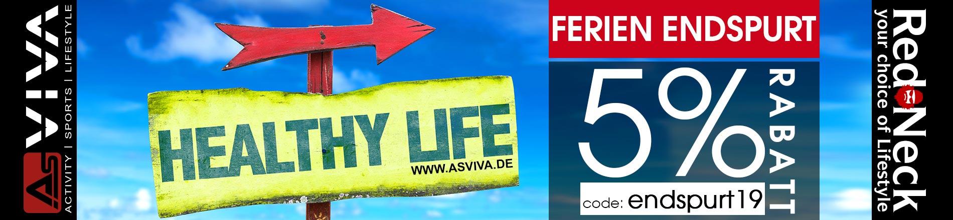 5% Rabatt-Gutschein Aktion für AsVIVA Fitnessgeräte, E-Bikes, Gartenmöbel & Keramikgrills