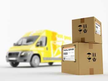 Das Paket kann Transportspuren aufweisen.