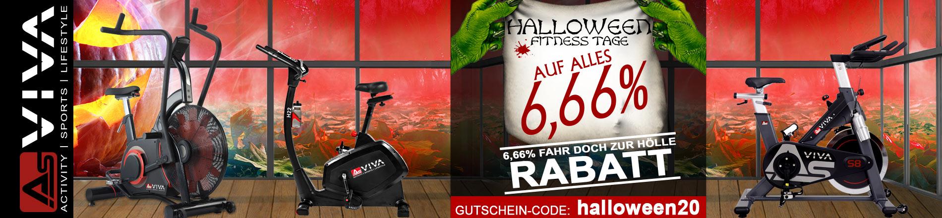 6,66% Halloween-Gutschein für Fitnessgeräte, E-Bikes, E-Scooter, Keramikgrilss und Gartenmöbel