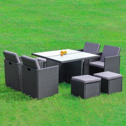 Gartenmöbel 4er Rattan Lounge Sitzgruppe Günstig Kaufen Asviva