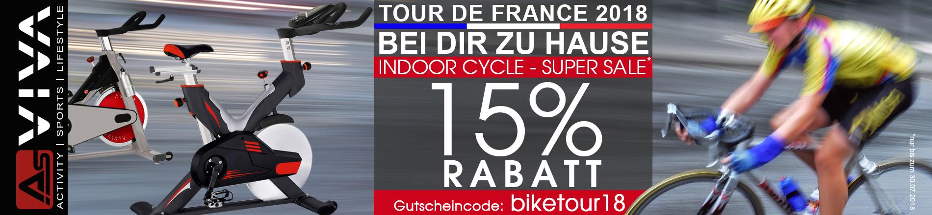 Tour de France 15% Rabatt-Gutschein auf Indoor Bikes bei AsVIVA