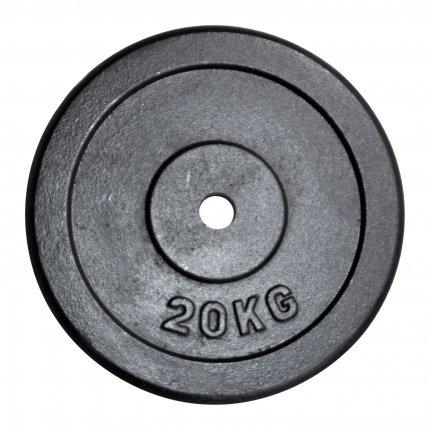 Hantelscheibe 20 kg Gusseisen 30 mm AsVIVA HS2_3_20