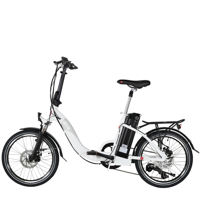 e bike 20 elektro faltrad asviva b13 36v wei elektro klapprad elektro fahrrad ebay. Black Bedroom Furniture Sets. Home Design Ideas