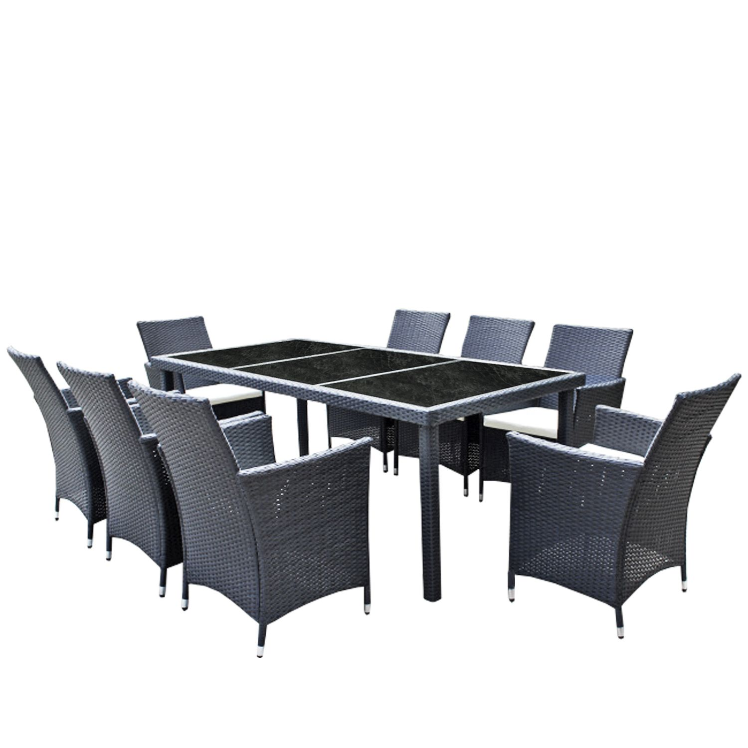 gartenm bel set 8er essgruppe dining exclusive. Black Bedroom Furniture Sets. Home Design Ideas