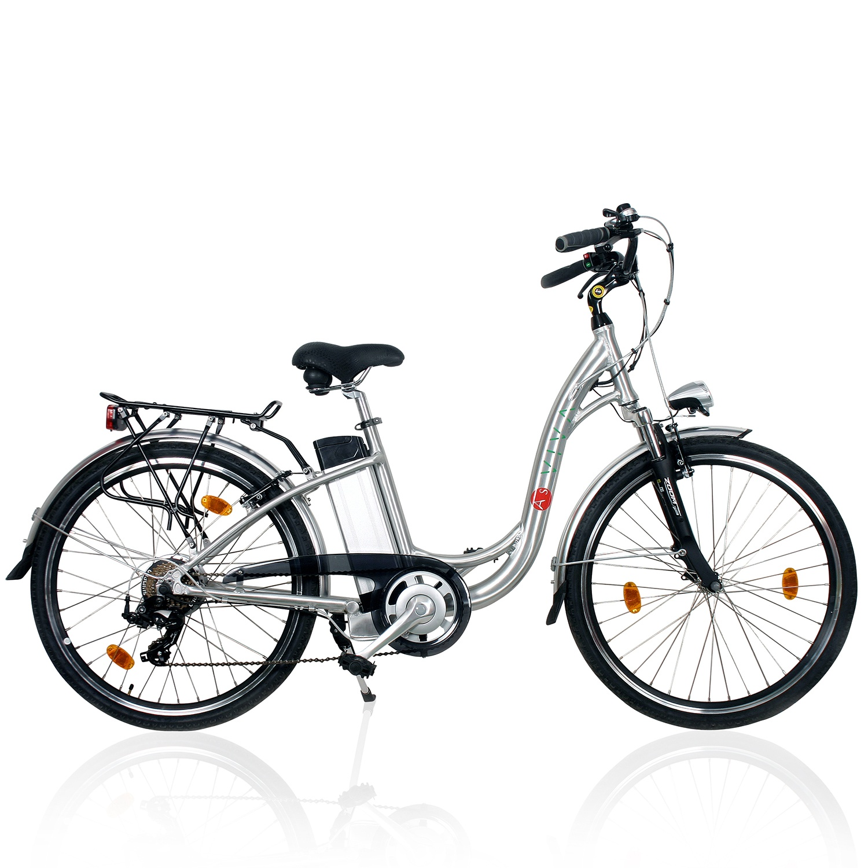 e bike 28 l asviva b11 36v 9ah tiefeneinsteiger city bike hollandrad silber ebay. Black Bedroom Furniture Sets. Home Design Ideas