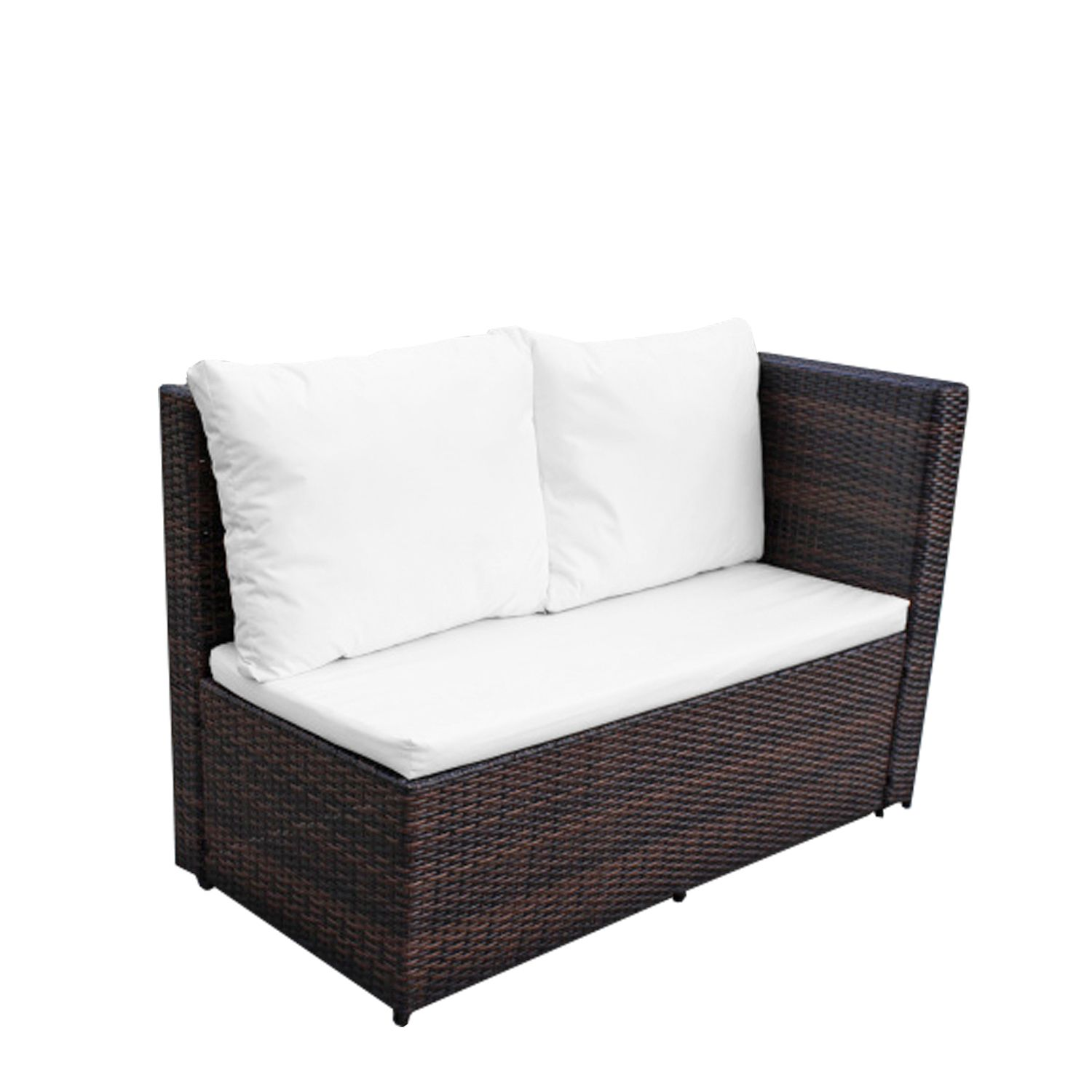 gartenm bel set 8er ecklounge comfort dining premium polyrattan braun asviva ebay. Black Bedroom Furniture Sets. Home Design Ideas