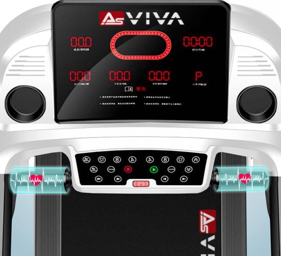 AsVIVA Laufband T20 Handpulssensoren