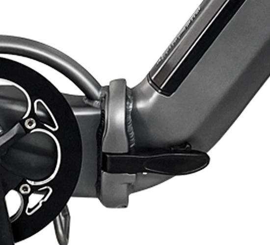 E-Bike mit sicherem Klappverschluss