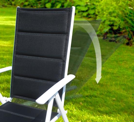 7-fach verstellbare Rückenlehne Gartenstuhl