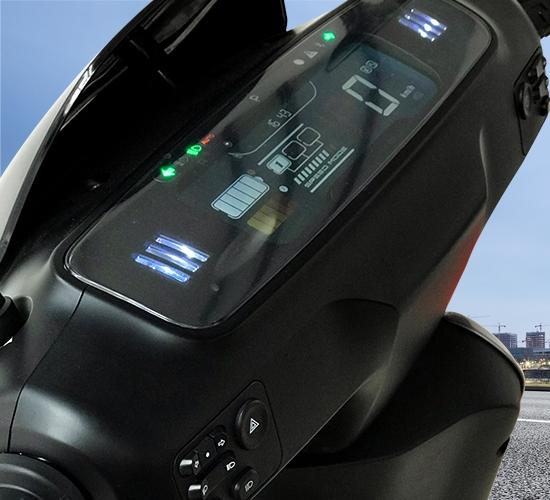 Moderner E-Scooter