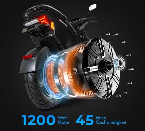 Moderner E-Scooter-Motor