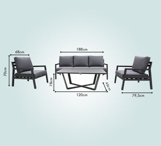 RedNeck Sitzgruppe GAL2 für 5
