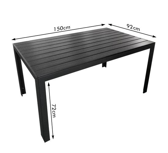 Gartentisch für viele Personen