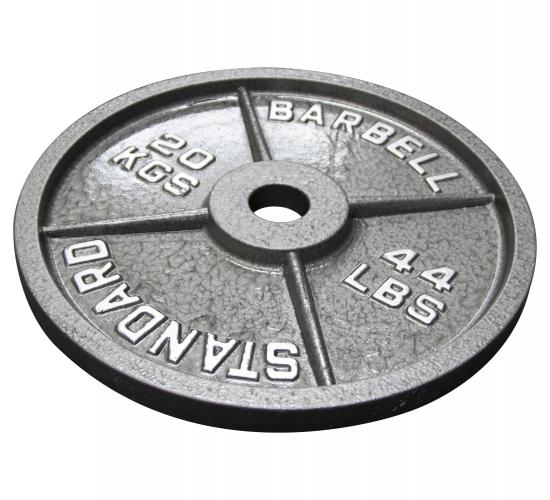 Gewicht aus Gusseisen silber