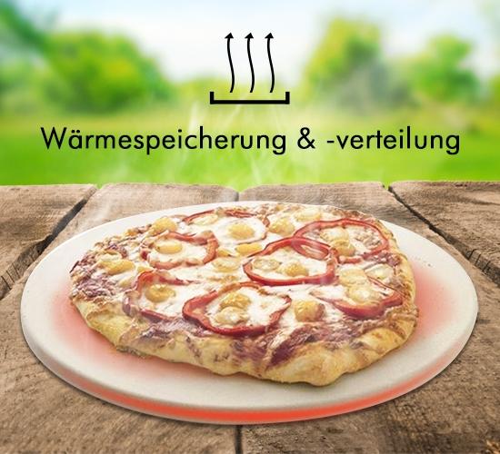 Wärmespeichernder Pizzastein