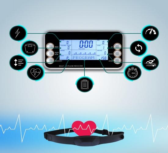AsVIVA Fitnesscomputer mit digitaler Anzeige