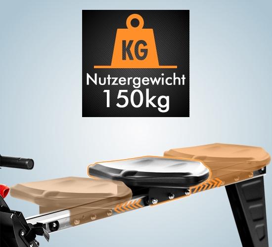 Komfortsitz für 150 kg Nutzergewicht