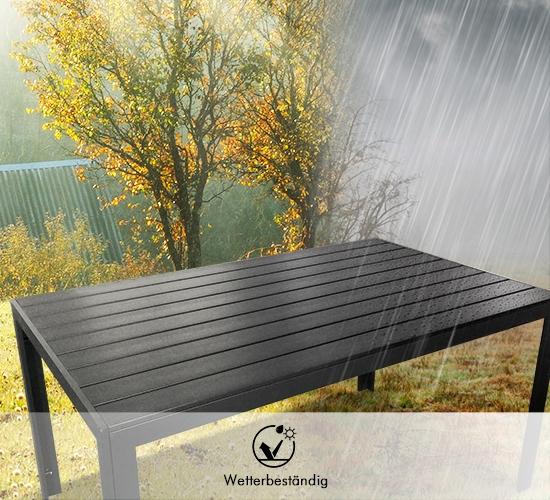 Gartentisch mit Wetterschutz